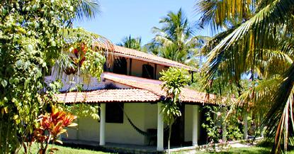 The outside of the hotel fazenda villa guaiamau.