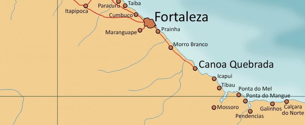 Carte Canoa Quebrada