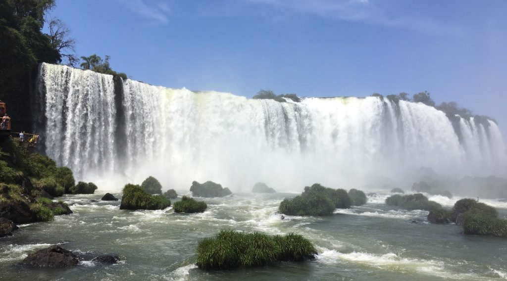 Landscape view of the mighty Iguaçu falls.
