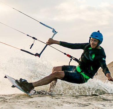 A kitesurfer in Jericoacoara.