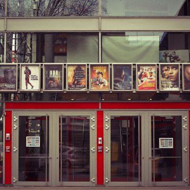 A modern cinema in Brazil.