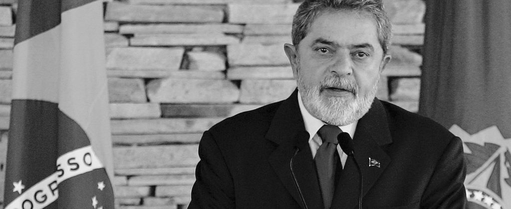 President Lula - black and white.