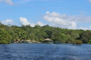 Amazon Eco park, the eco tourism resort on the edge of the Amazon river.