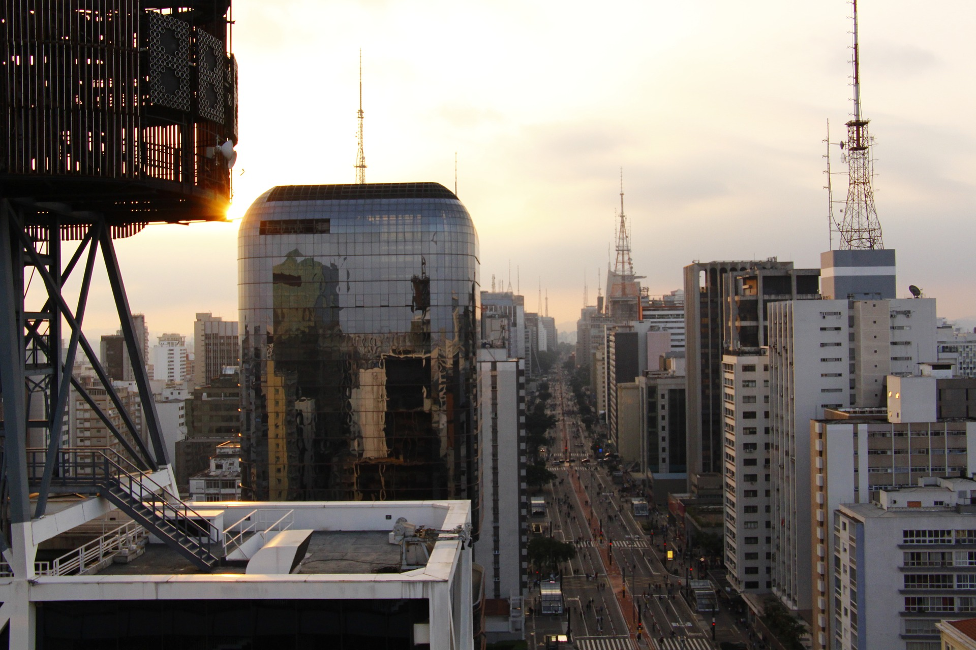 Aerial view of Avenida Paulista in Sao Paulo.