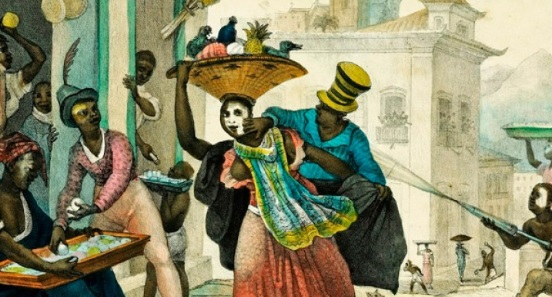 Carnival in Brazil during colonial times.