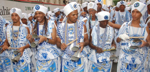 Filhos de ghandy band at Salvador carnaval