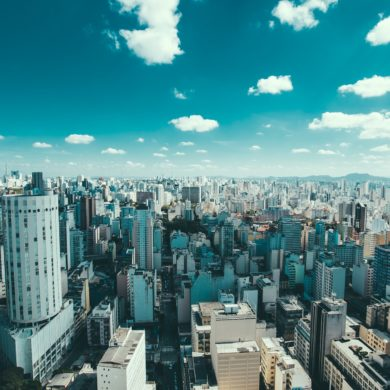 Picturesque view of Sao Paulo skyline.