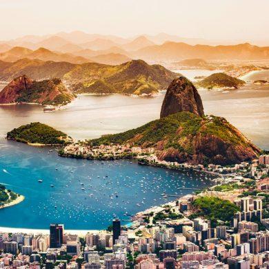 A birdseye view of Rio de Janeiro.