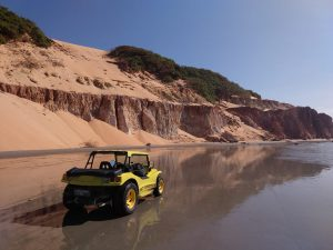 Buggy sitting on the shimmering waters of Nordeste.