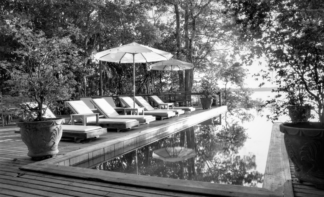 Pool at Anavilhanas - Black and White
