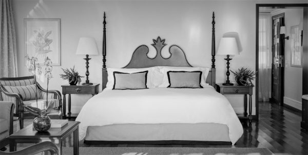 Bed in Belmond Hotel das Cataratas, first stop on the honeymoon in Brazil.