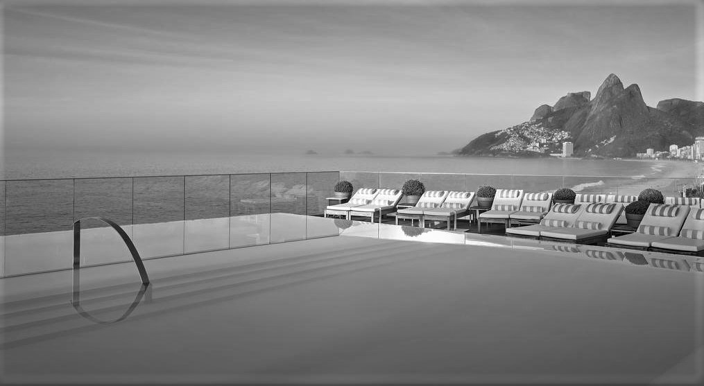 Pool of the Fasano in Black and White.