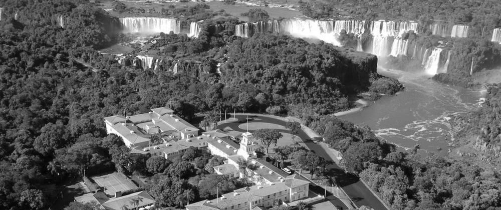View of Iguassu Falls from above.