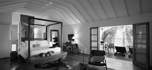 Black and White of room in Santa Tereza.