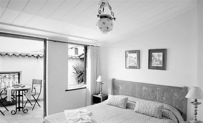 Room at Villa Bahia in Black and White.