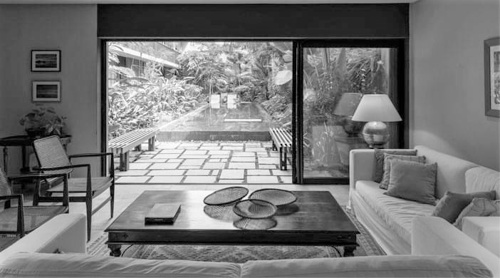 Villa Amazonia lounge area.
