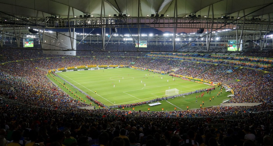Maracana Stadium from the stands.