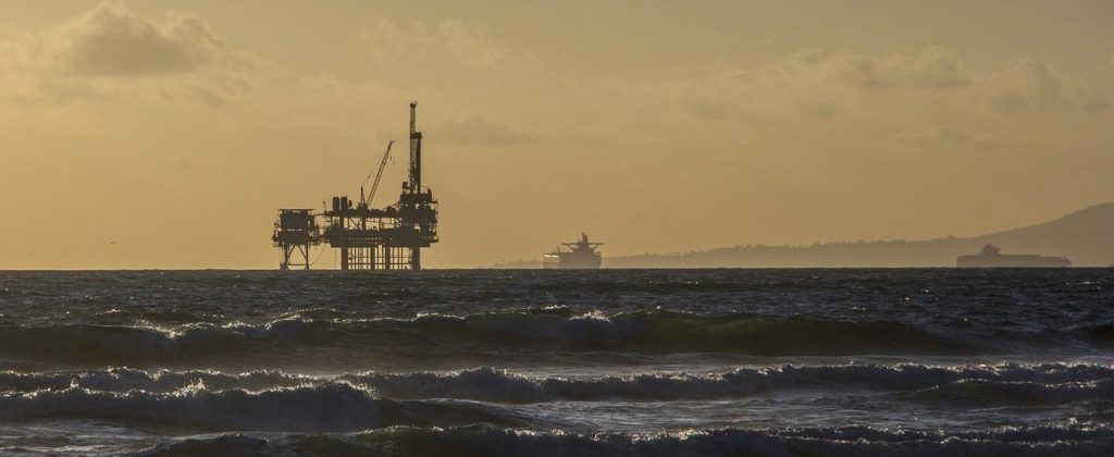 A Petrobras platform, stalwart of Brazilian industry.