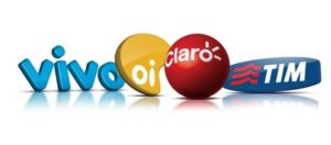 Brazilian phone operator logos.